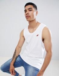 Threadbare Embroidered Melon Vest - White