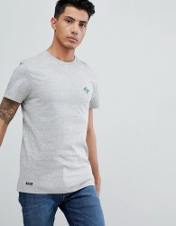 Threadbare Embroidered Palm T-Shirt - Grey