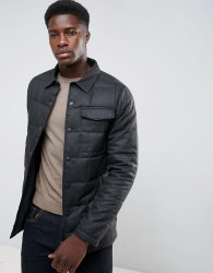 Threadbare Quilted Lightweight Jacket - Grey