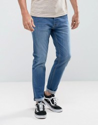 Threadbare Riley Skinny Jeans in Mid Blue Wash - Blue