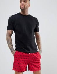 Threadbare Swim Shorts - Red