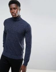 Threadbare Textured Knit Jumper - Navy