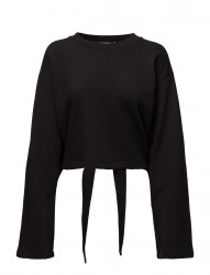 Tie-Back L/S Crop Sweatshirt