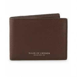 Tiger of Sweden Agata Leather Wallet Sable Brown