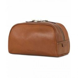 Tiger of Sweden Bonardi Leather Toilet Bag Brown