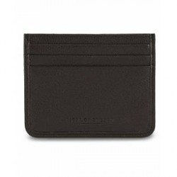 Tiger of Sweden Gleizes Leather Cardholder Black