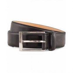Tiger of Sweden Helmi Leather 3,5 cm Belt Black