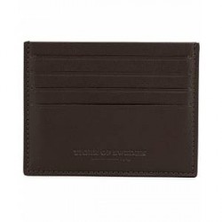 Tiger of Sweden Krio Leather Card Holder Brown