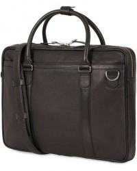 Tiger of Sweden Marquet Leather Briefcase Black