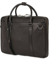 Tiger of Sweden Marquet Leather Briefcase Black men One size Sort