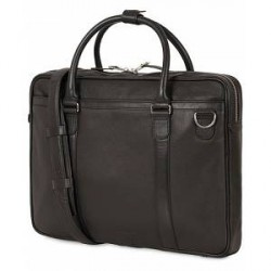 Tiger of Sweden Marquet Leather Briefcase Black