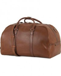 Tiger of Sweden Pinchon Leather Weekend Bag Brown