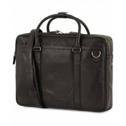 Tiger of Sweden Printel Leather Briefcase Black