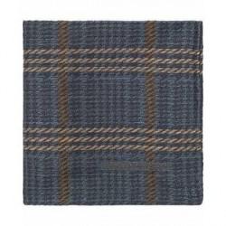Tiger of Sweden Stroud Wool/Silk Check Pocket Square Navy