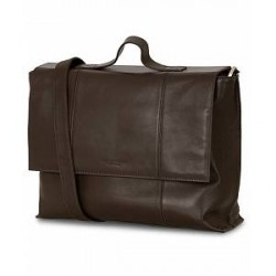 Tiger of Sweden Vasatana Leather Briefcase Brown