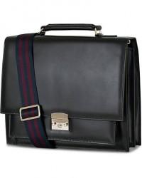 Tiger of Sweden Wedge Leather Briefcase Black
