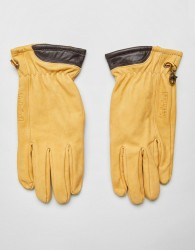 Timberland Nubuck Boot Leather Glove in Wheat Yellow - Yellow