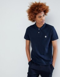 Timberland Tree Logo Pique Polo in Navy - Navy