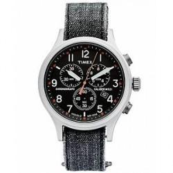 Timex Allied Chrono Stone Washed Denim Dark Grey