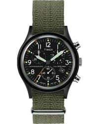 Timex Camper MK1 Aluminium Chrono 40mm Black/Black Dial men One size Grøn,Sort