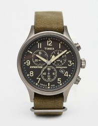 Timex Expedition Scout Chronograph Watch In Green TW4B04100 - Green