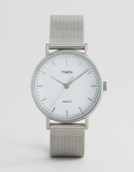 Timex Fairfield 37mm Mesh Watch In Silver - Silver