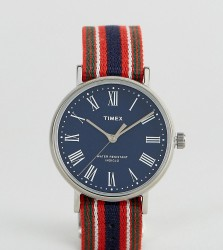 Timex Fairfield Avenue Reversible Nato Watch With Blue Dial Exclusive To ASOS - Multi