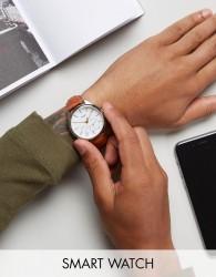 Timex IQ Leather Hybrid Smart Watch In Tan - Tan