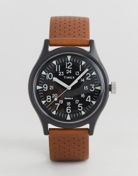Timex MK1 perforated leather watch 40mm exclsuive to ASOS - Tan
