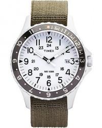 Timex Navi Ocean Blasted Steel/Pearl White Dial men One size Grøn,Blå