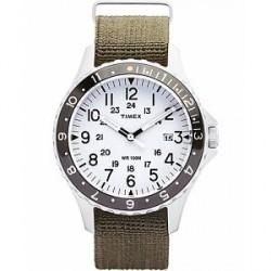 Timex Navi Ocean Blasted Steel/Pearl White Dial