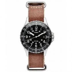 Timex Navi Ocean Stone Washed Leather Brown