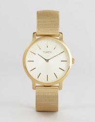 Timex TW2R36100 Skyline 34mm Mesh Watch In Gold - Gold