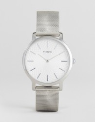 Timex TW2R36200 Skyline 34mm Mesh Watch In Silver - Silver