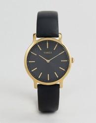 Timex TW2R36400 Skyline 34mm Leather Watch In Black - Black