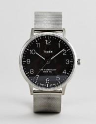 Timex TW2R71500 Waterbury Classic Mesh Watch In Silver - Silver