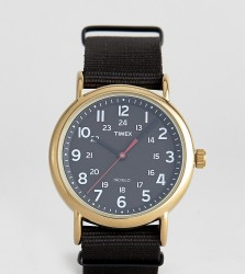 Timex Weekender canvas watch 40mm exclusive to ASOS - Black