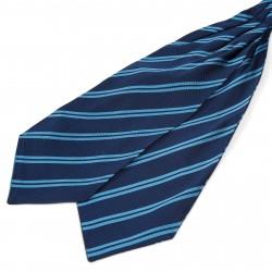TND Basics Marineblå Silkekravat med Blå Dobbeltstriber