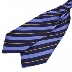 TND Basics Silkekravat med Marineblå-, Pastelblå- og Guldstriber