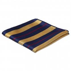 TND Basics Silkelommeklud med Guld, Røde og Marineblå Striber
