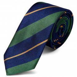 TND Basics Silkeslips 6 cm med Guld, Marineblå og Grønne Striber