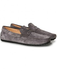Tod's City Gommino Grey Suede men UK6 - EU39,5 Grå