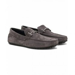 Tod's Doppia City Gommino Carshoe Light Grey Suede