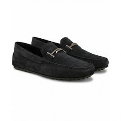 Tod's Doppia City Gommino Carshoe Navy Suede