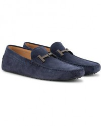 Tod's Gommino Double T Carshoe Navy Suede men UK7 - EU41