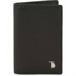 Tod's Grained Leather Credit Card Wallet Black