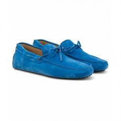 Tod's Laccetto Gommini Carshoe Clear Blue Suede