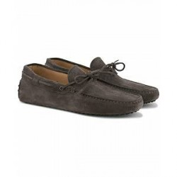 Tod's Laccetto Gommini Carshoe Grey Suede