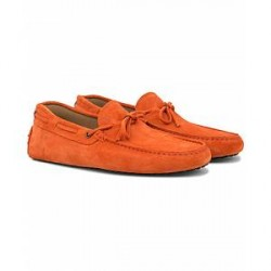 Tod's Laccetto Gommini Carshoe Orange Suede
