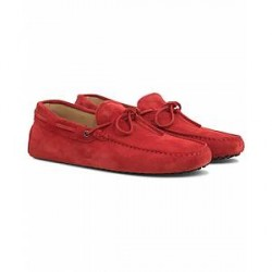 Tod's Laccetto Gommini Carshoe Red Suede
